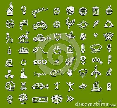 Iconos de la ecología para su diseño