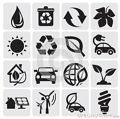 Iconos de la energía de Eco
