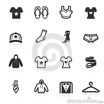 Iconos de la manera y de la ropa - serie del minimo