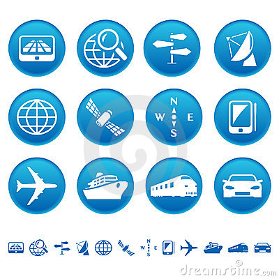 Iconos de la navegación y del transporte