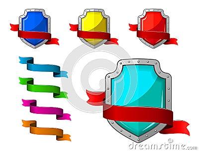 Iconos de la seguridad fijados