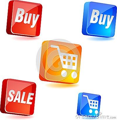 Iconos de las compras.