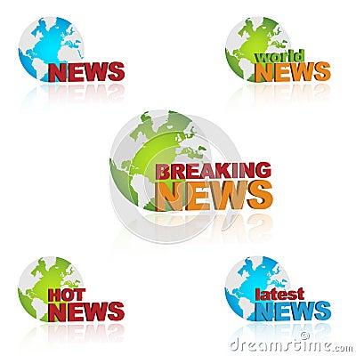 Iconos de las noticias de mundo