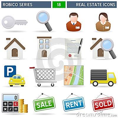 Iconos de las propiedades inmobiliarias serie de robico - Inmobiliaria serie 5 ...