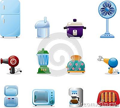 Iconos de los aparatos electrodom sticos fotograf a de - Electrodomesticos la casa ...