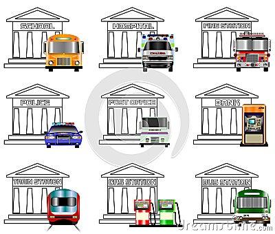 Iconos de los servicios públicos
