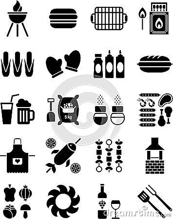 Iconos del Bbq