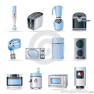 Iconos del cocina y caseros del equipo foto de archivo for Equipo manual de cocina