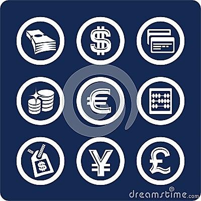 Iconos del dinero y de las finanzas (fije 10, parte 2)