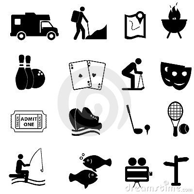 Iconos del ocio y de la diversión