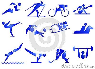 Iconos del símbolo del deporte