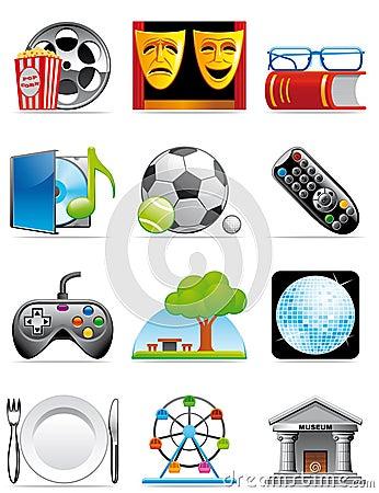 Iconos del tiempo libre