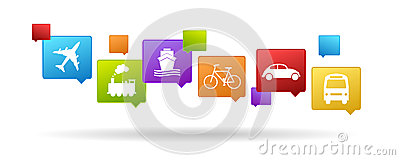 Iconos del transporte