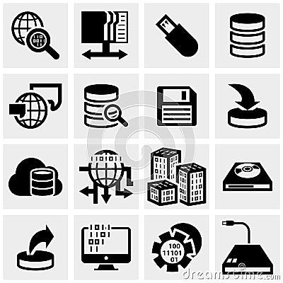 Iconos del vector de la serie fijados en gris