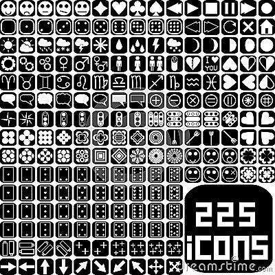 Iconos del Web site y de los multimedia fijados