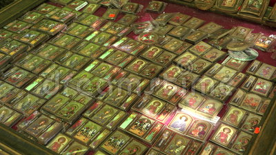 Iconos ortodoxos 4K almacen de video