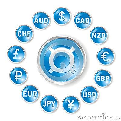 Iconos redondos del vector por tarifas de las marcas