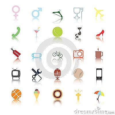 Iconos sociales. Intereses de la gente.