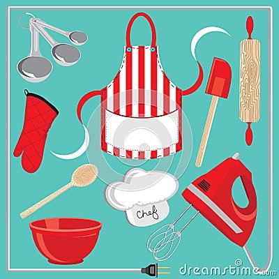 Iconos y elementos de la hornada