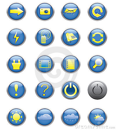 Free Icons Stock Photography - 14360892