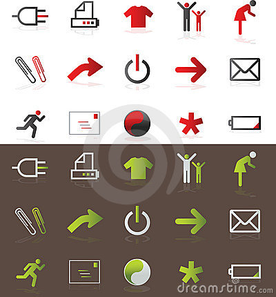 Free Icons Royalty Free Stock Photography - 9124977