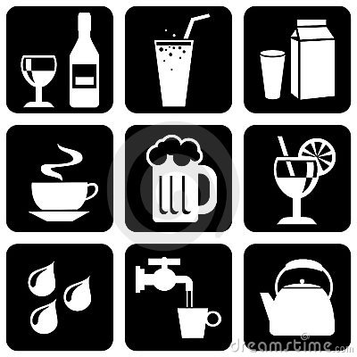 icons on beverages