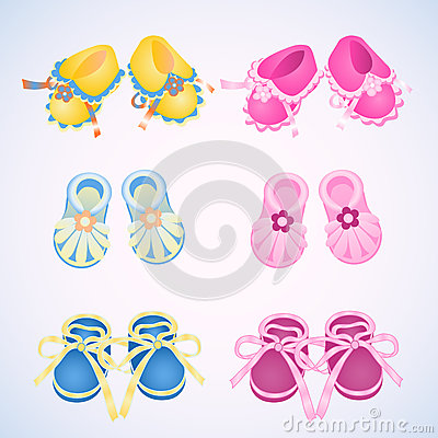 Free Icons Booties Royalty Free Stock Photography - 74638657