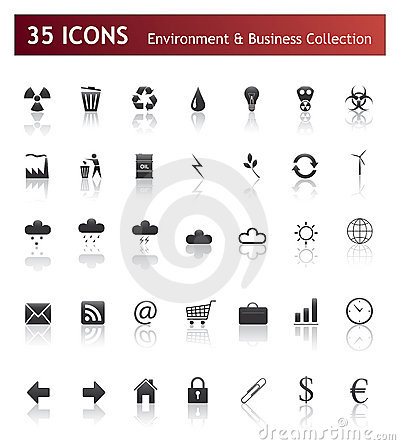 Icons - Business and Environment