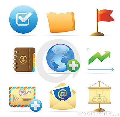 Icons for business metaphor