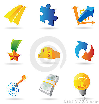 Icons for business symbols