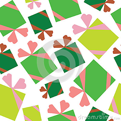 Icons of Christmas toys, gifts seamless pattern
