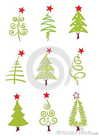 Icons - Christmas trees