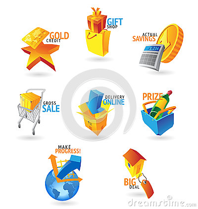 Icons for commerce and retail