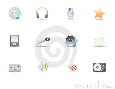 Icons for common digital music media