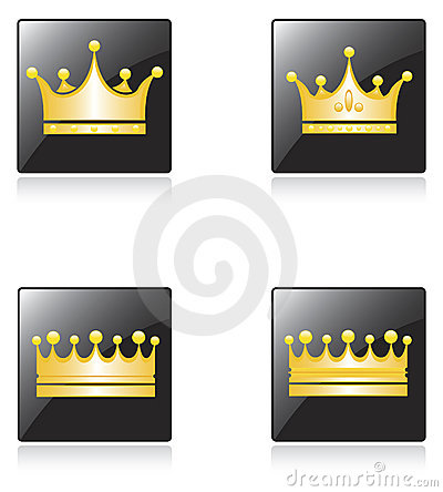 Icons with crowns
