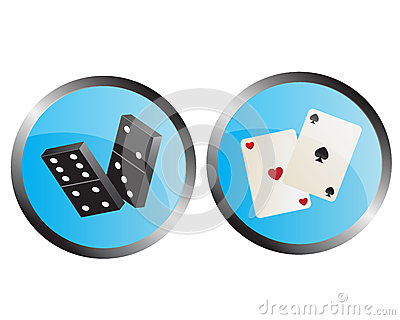 Icons depicting the dominoes and playing cards