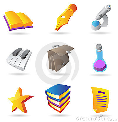 Icons for education and knowlegde