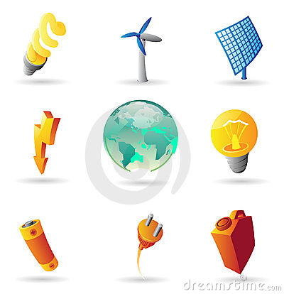 Icons for energy and ecology