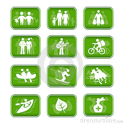 Free Icons Family Travel And Sport Stock Photography - 2213202