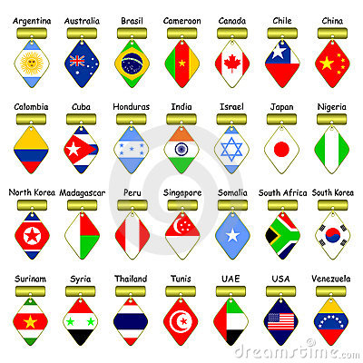 Icons of flags.