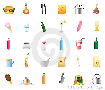 Icons for food and drinks