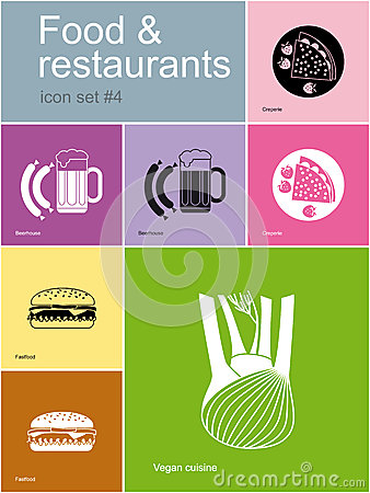 Icons of food and restaurants