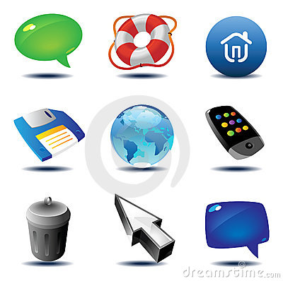Free Icons For Interface Royalty Free Stock Photos - 11688298