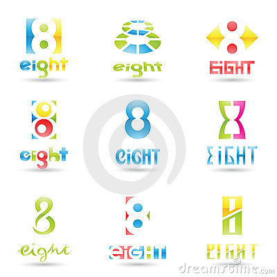 Free Icons For Number 8 Stock Photos - 22052343