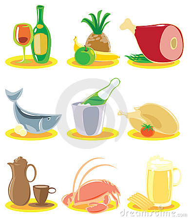 Free Icons For Restaurant Menu Royalty Free Stock Photos - 8169768
