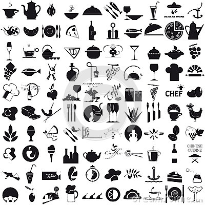 Free Icons For The Gastronomy Royalty Free Stock Photo - 32061985