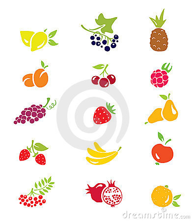 Free Icons - Fruits And Berries Royalty Free Stock Photo - 15337055