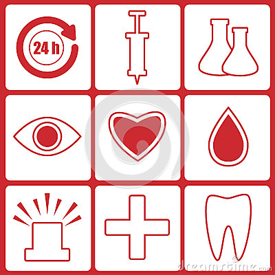 Icons for the hospital