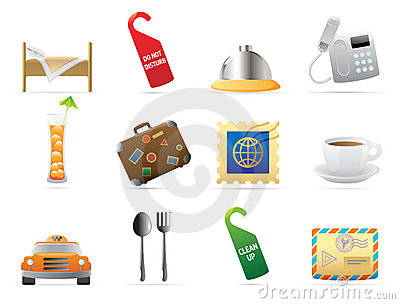 Icons for hotel and services
