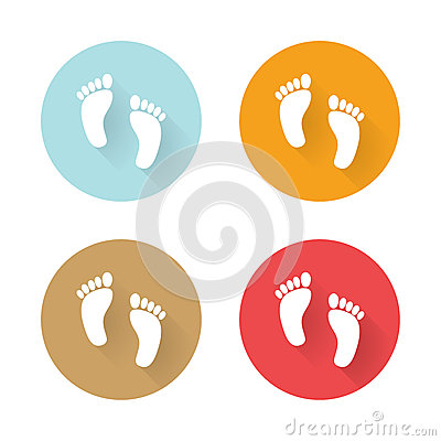 Free Icons Human Foots Royalty Free Stock Photography - 46633347